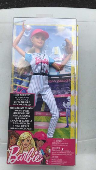 Boneca Barbie - Feita Para Mexer - Jogadora De Baseball