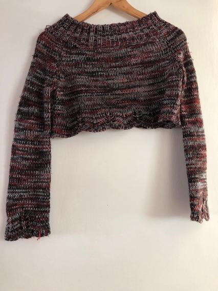 Sweater Niña Manga Larga Corto Talle 12