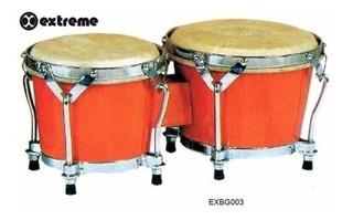 Bongo 7 Y 8 Naranja Aro Cromado Extreme Exbg003 )