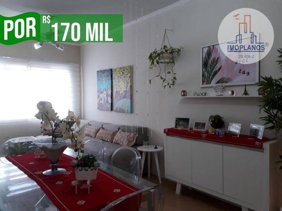 Apartamento Com 1 Dormitório À Venda, 60 M² Por R$ 170.000 - Aviação - Praia Grande/sp - Ap10654