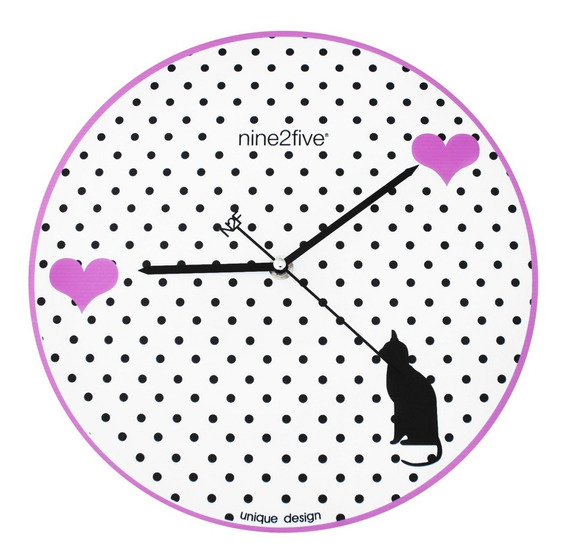 Reloj De Pared Nine2five, Pgrl01rs Mov Silencioso Watch It