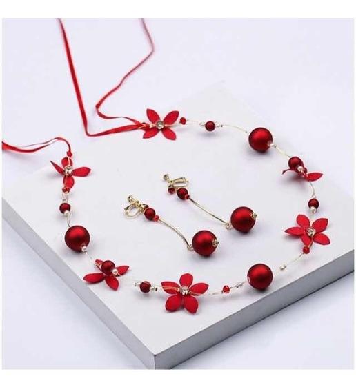 Hermoso Juego De Collar Y Aretes De Perlas ( Envío Gratis )
