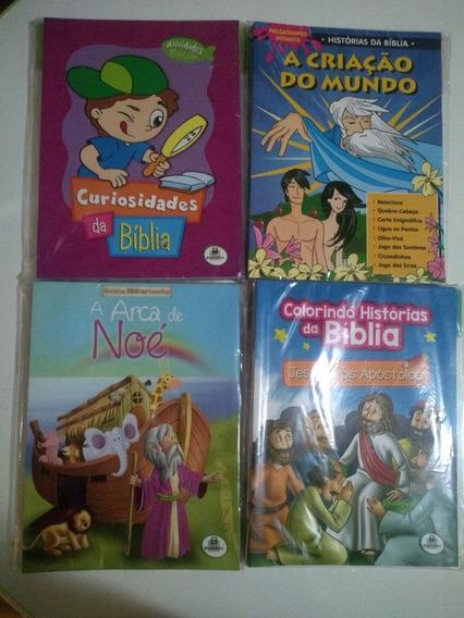 6 Kits Livros Infantis - Ativid Bíblicas, Colorir, Histórias