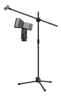 Atril (pedestal ) Microfono C/boom Incluye Porta Microfono