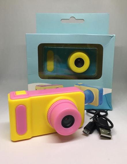 Mini Câmera Digital Infantil Foto E Vídeo ( Azul Ou Rosa)
