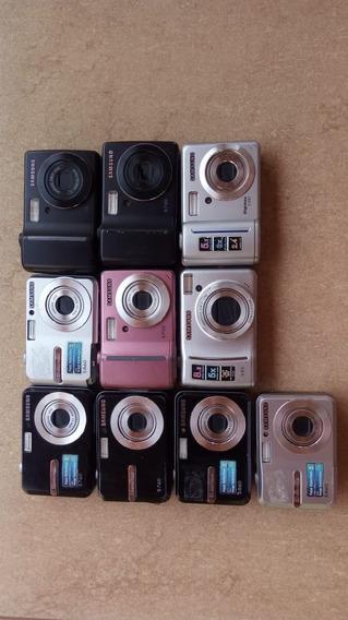 Lote 10 Cameras Digitais Samsung Com Defeito Modelos Diversos