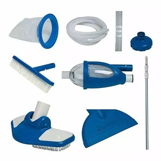 Kit Limpieza Y Mantenimiento Delux Para Alberca Y Spa Intex