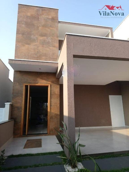 Casa Com 3 Suítes À Venda, 150 M² Por R$ 590.000,00 - Condomínio Park Real - Indaiatuba/sp - Ca1261