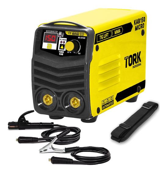 Maquina De Solda Inversora Kab 150 Amp Micro Mma Tig Tork