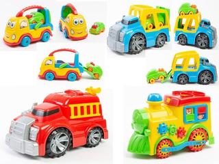 Carrinho Carro Moto Didático Brinquedos Vários Modelos