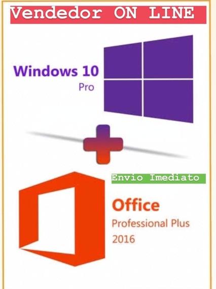 Windows 10 Pro + Office 2016 - Chave 25 Dgts - Envio Já