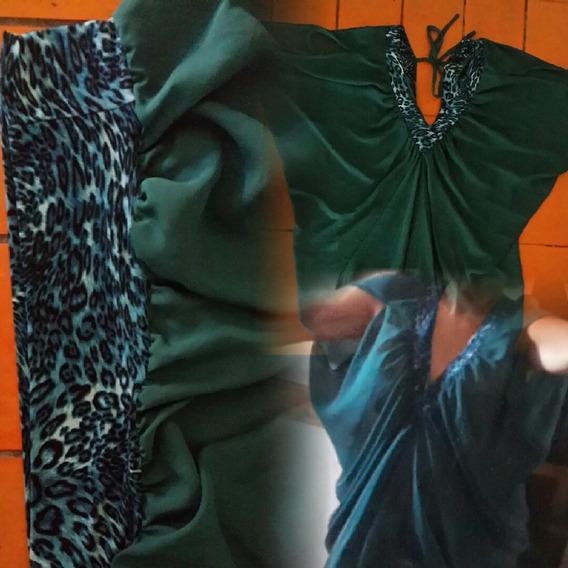 Bluson-vestido Gasa Y Animal Print.t L.san Isidro