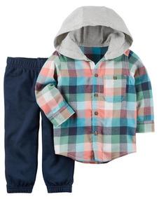 Camisa Longa C/ Toca + Calça, Menino 12m - Carter`s Original