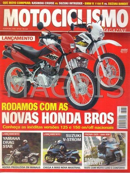 Frete Grátis Motociclismo 2/2003 Bros 125, 150, Drag Star, V