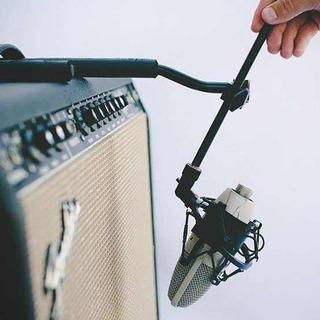 The Wishbone - The Amp Hook Base Para Micrófono De Guitarra