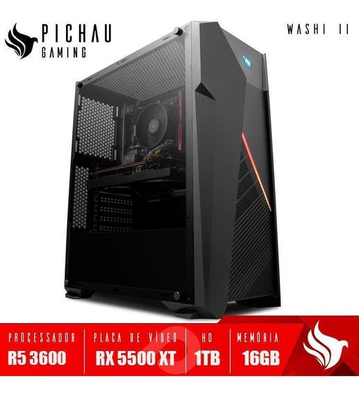 Pc Gamer Pichau Washi ||, Ryzen 5 3600, Rx 5500 Xt 4gb, 16gb