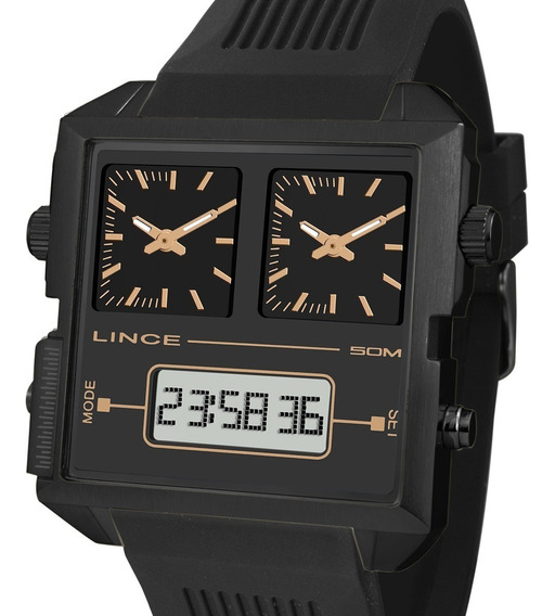 Relógio Lince Masculino Anadigi Map4588s P1px + N. Fiscal