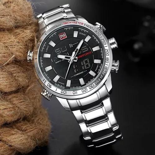 Relógio Naviforce 9093 Original Aço Inoxidável Novo