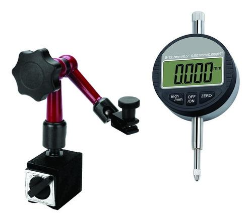 Comparador De Caratula Digital 0 A 12.7mm  + Base Magnetica