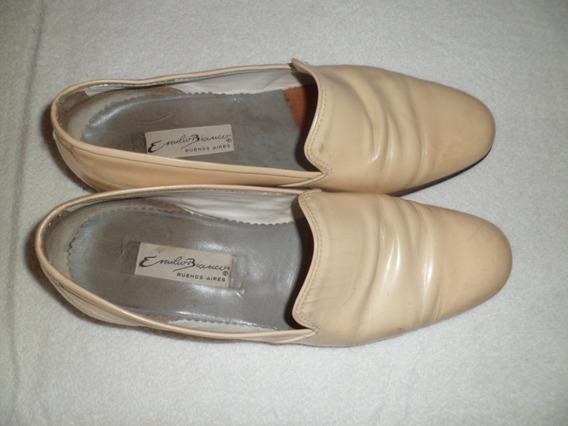 Zapato Emilio Bianco - Charol Crema - Talle 43 Diferentes