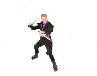 Muñeco Figura Ninja Articulado Con Accesorios. Mic Toys