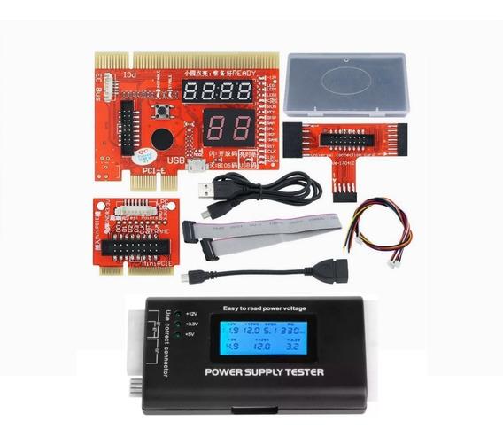 Kit Placa Diagnóstico Pcie Usb Pc Note Smartphone Test Fonte