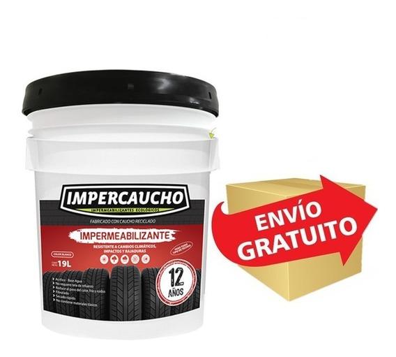 Impermeabilizante De Llanta Impercaucho Pra Techos Cubeta 19