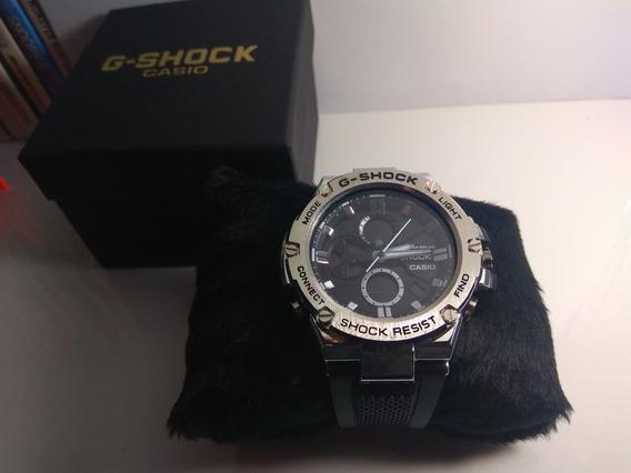Casio G-shock Steel Metal Lindo Led Analogico Digital Gshock