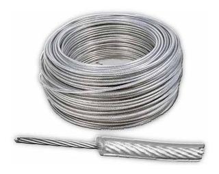 Linga Cable De Acero Forrado Galv 6 - 7mm X Metro - Ynter