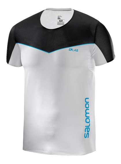 Playera Hombre Trail Running S/lab Sense Tee Blanco Salomon