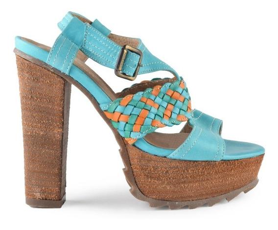 Sandalias De Mujer De Cuero Zapatos Base Gardenia - Ferraro