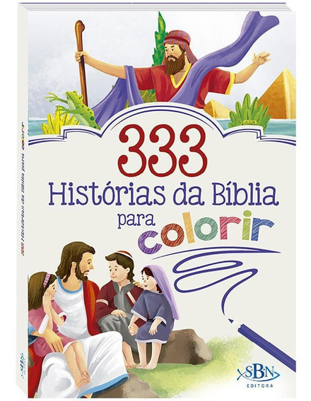 Livro 333 Histórias Da Bíblia Para Colorir