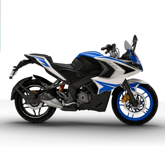 Moto Bajaj Pulsar Rouser Rs 200 Blanc 0km Urquiza Motos Azul