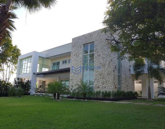 Casa Com 4 Dormitórios À Venda, 420 M² Por R$ 2.100.000,00 - Alphaville Eusébio - Eusébio/ce - Ca0219