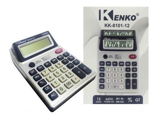 Imagen 1 de 1 de Calculadora Kenko Kk 8101 Doble Visor 12 Digitos. Gran Canal