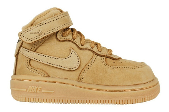 Nike Air Force 1 Mid Lv8 Flax Wheat 3c 17.5 Br 9cm Novo