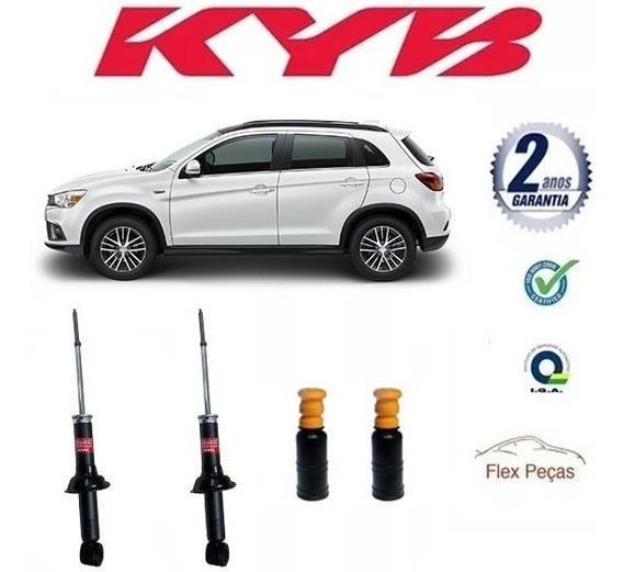 Par Amortecedor Traseiro Kayaba Mitsubishi Asx + Kits