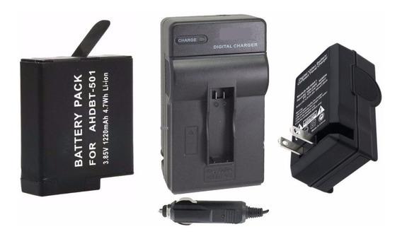 Kit Bateria + Carregador Para Câmera Gopro Hero 5 Session