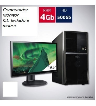 Computador Completo - I3 Com 4gb Ddr3 + 500 Hd