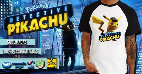 Remeras Detective Pikachu -cine - Series - Gaming