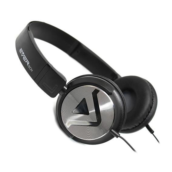 Fone Headphone Dj Evertech Evhp-20m/bb Preto