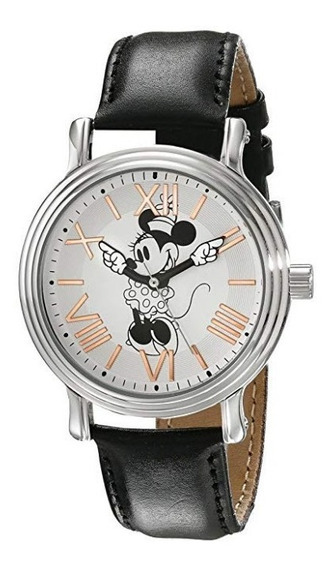 Reloj Disney Dama Minnie Mouse Arm Hand Watch Negro