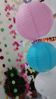 20 Lanterna Japonesa Chinesa Balão Para Decoração 25cm