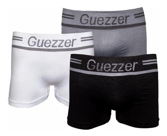 Kit 6 Cuecas Boxer Guezzer Sem Costura