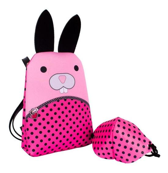 Bolsa Infantil Princesa Pink De Mochila Coelho