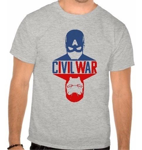 Camiseta Capitão América Civil War Guerra Civil Filme