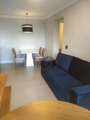 Apartamento Com 2 Dormitórios Para Alugar, 62 M² Por R$ 3.300/mês - Marapé - Santos/sp - Ap3910
