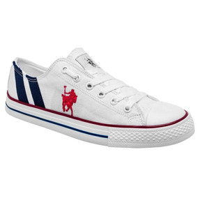 Tenis Casuales Marca American Polo 2020 Blanco Dog