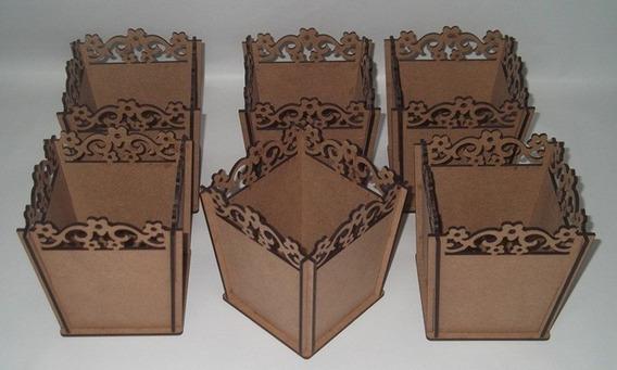 Cachepôs Kit 6 Unidades Vários Modelos Decoração Mdf 3mm
