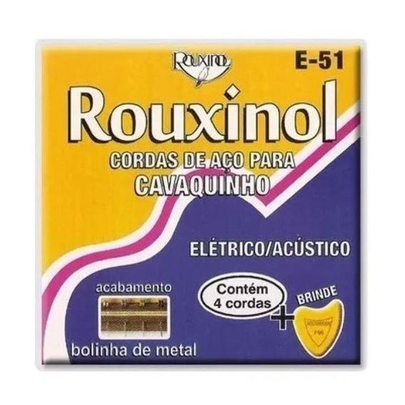 Encordoamento Rouxinol Cordas Aço Cavaquinho Cavaco E-51 E51